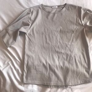 Tops - Monologue Grey Blouse from South Korea
